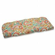 Pillow Perfect Outdoor/ Indoor Bronwood Caribbean Wicker Loveseat Cushion