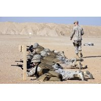 October 19 2012 - US Marines conduct a battlefield zero at Camp Leatherneck Helmand Province Afghanistan Poster Print