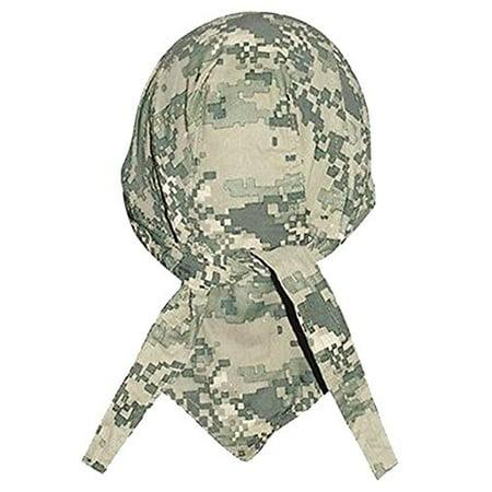 ACU Digital Camouflage Doo Rag Military Skull Cap Camo Durag Bandana Wrap