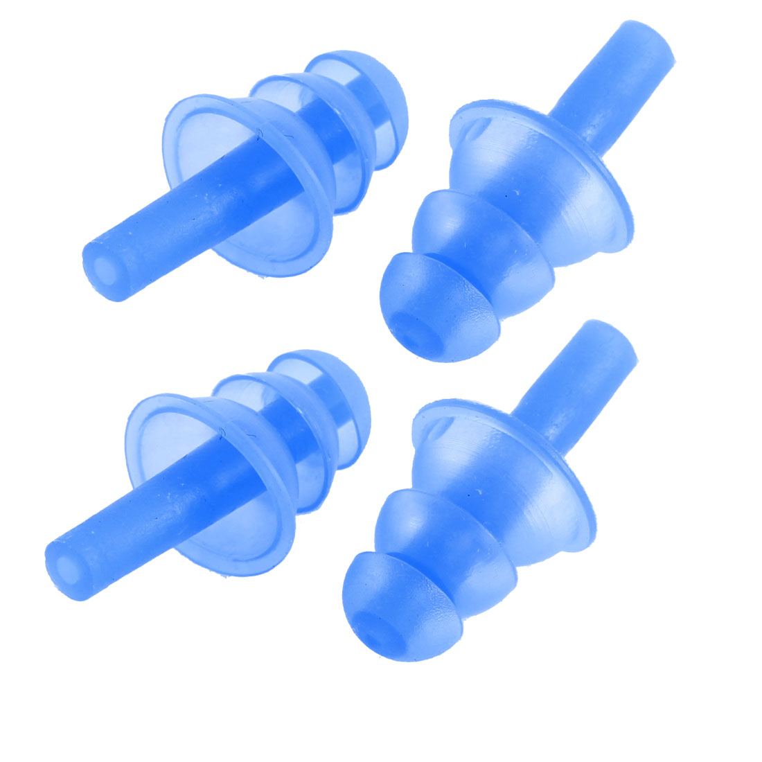 Unique Bargains 4 Pcs Blue Water Sports Swimming Swim Ear Plugs Protector Earplugs