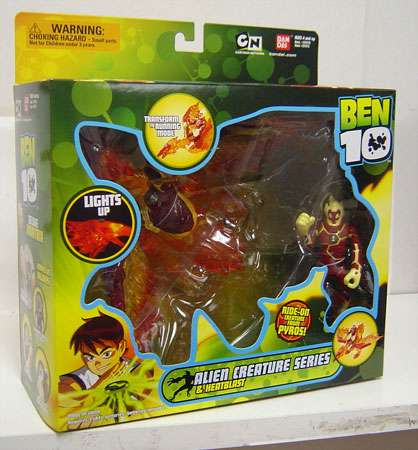 Ben 10 Alien Creatures Heatblast Action Figure by Bandai America Inc.