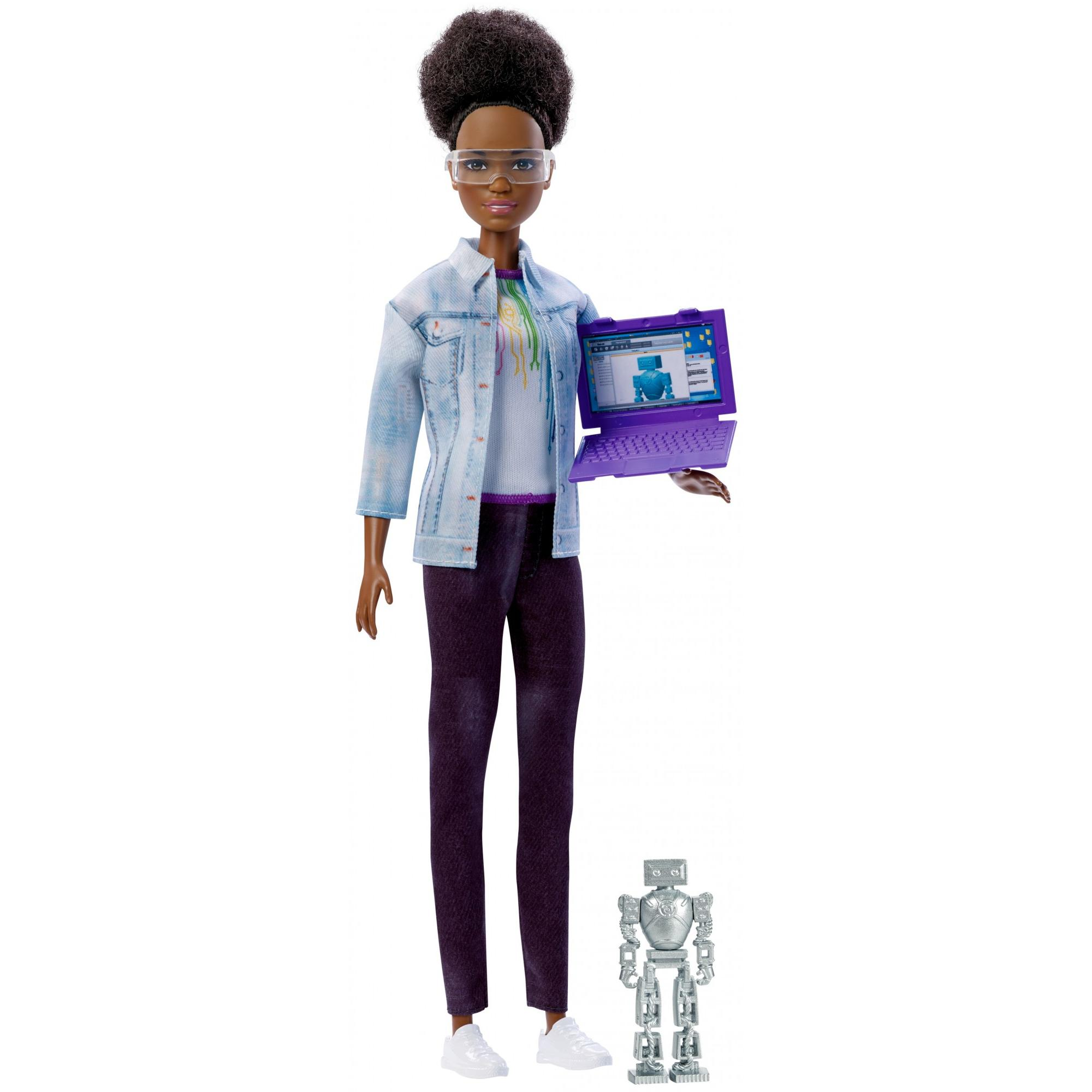 Barbie Careers Robotics Engineer Doll, Dark Brown Hair by Mattel