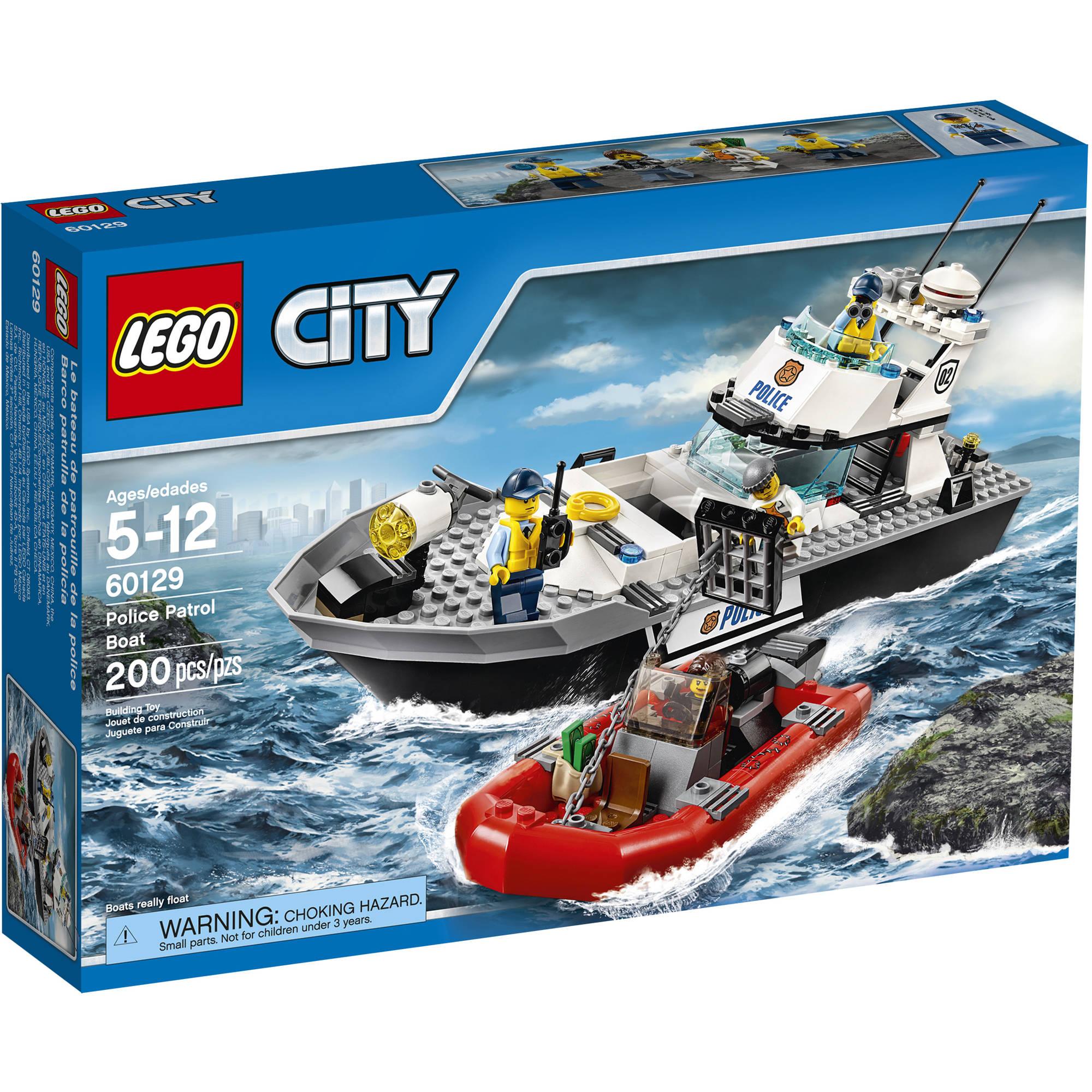 lego city police police patrol boat 60129 walmartcom