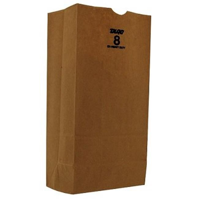 Duro 30908 CPC 8 lbs Extra Heavy Bulwark Grocery Bag, Brown - Case of 500 - image 1 of 1