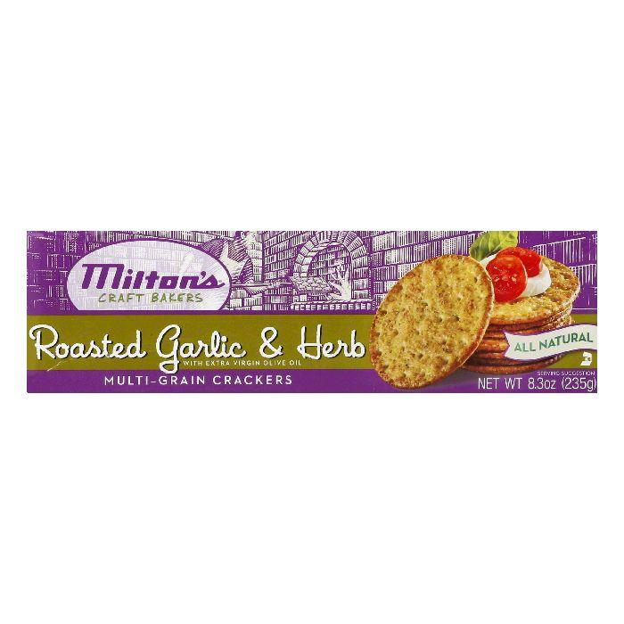 Milton's Roasted Garlic Multi-Grain Crackers, 8.3 OZ (Pack of 12)