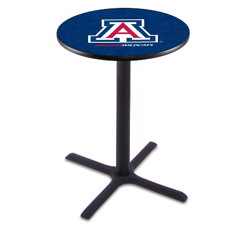 NCAA Pub Table by Holland Bar Stool, Black - University of Arizona, 36'' - L211