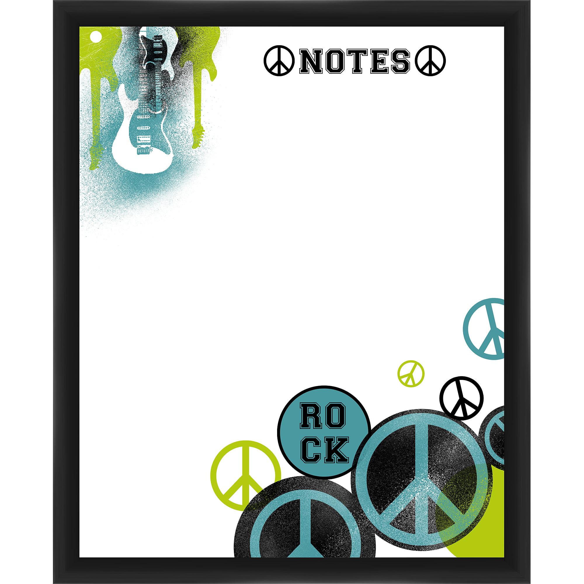Rock Notes Black Memoboard