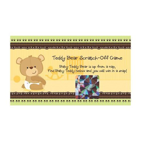 Baby Teddy Bear   Party Game Scratch Off Cards   22 Count