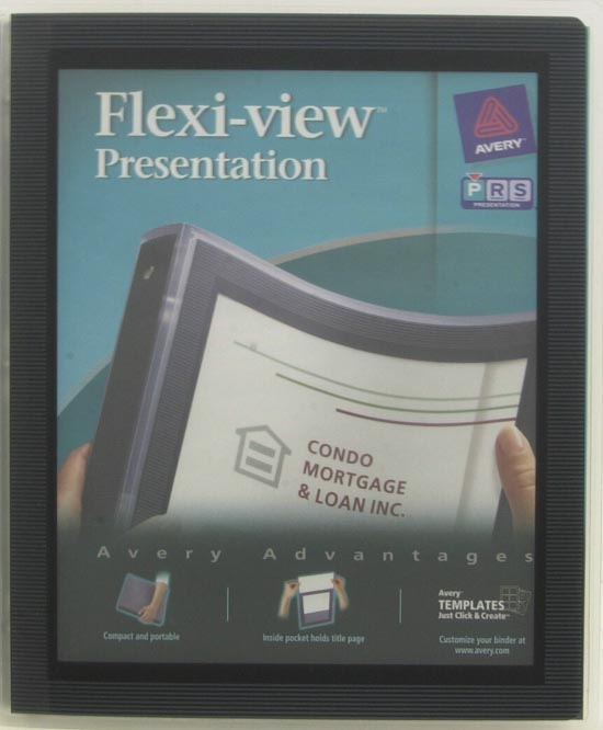 avery flexi view 12 binder 15760 with avery index maker clear label dividers 11436 5 tab 5 sets white bundle walmartcom