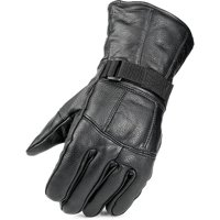 Mossi All Season Leather Motorcycle Glove, Black