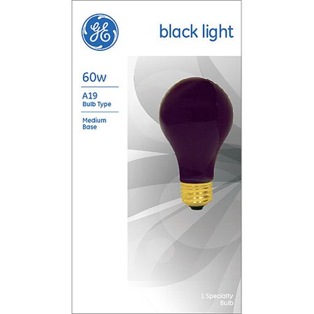 GE Incandescent 60W General Purpose A19 Black Light 1pk