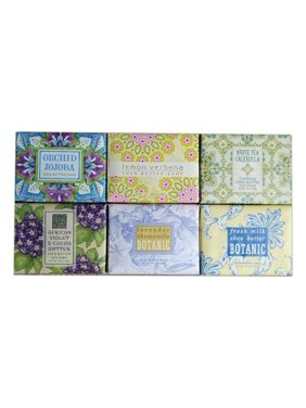 Set of 6 Greenwich Bay Shea Butter Luxury Spa Soap, Large 10.5 oz. Bars