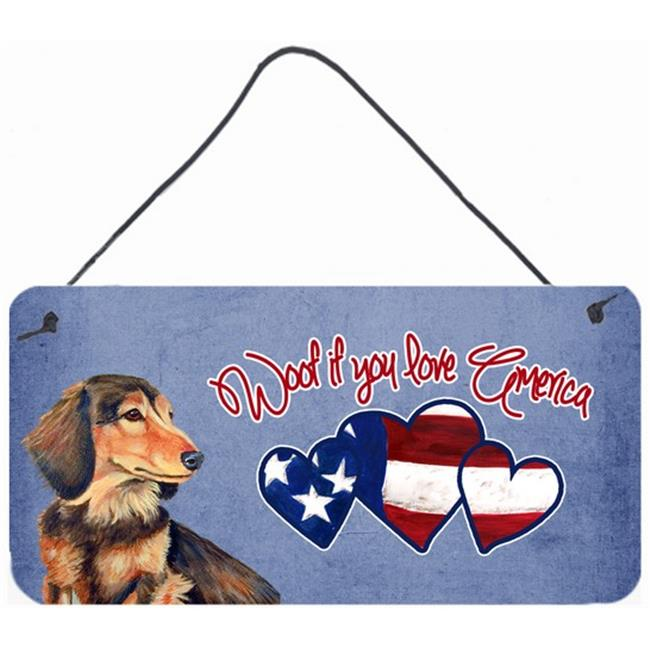 Carolines Treasures LH9513DS612 Woof If You Love America Dachshund Wall and Door Hanging Prints - image 1 de 1