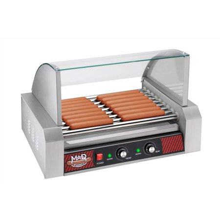 great northern popcorn mad dawg commercial 9 roller hot dog machine with cover. Black Bedroom Furniture Sets. Home Design Ideas