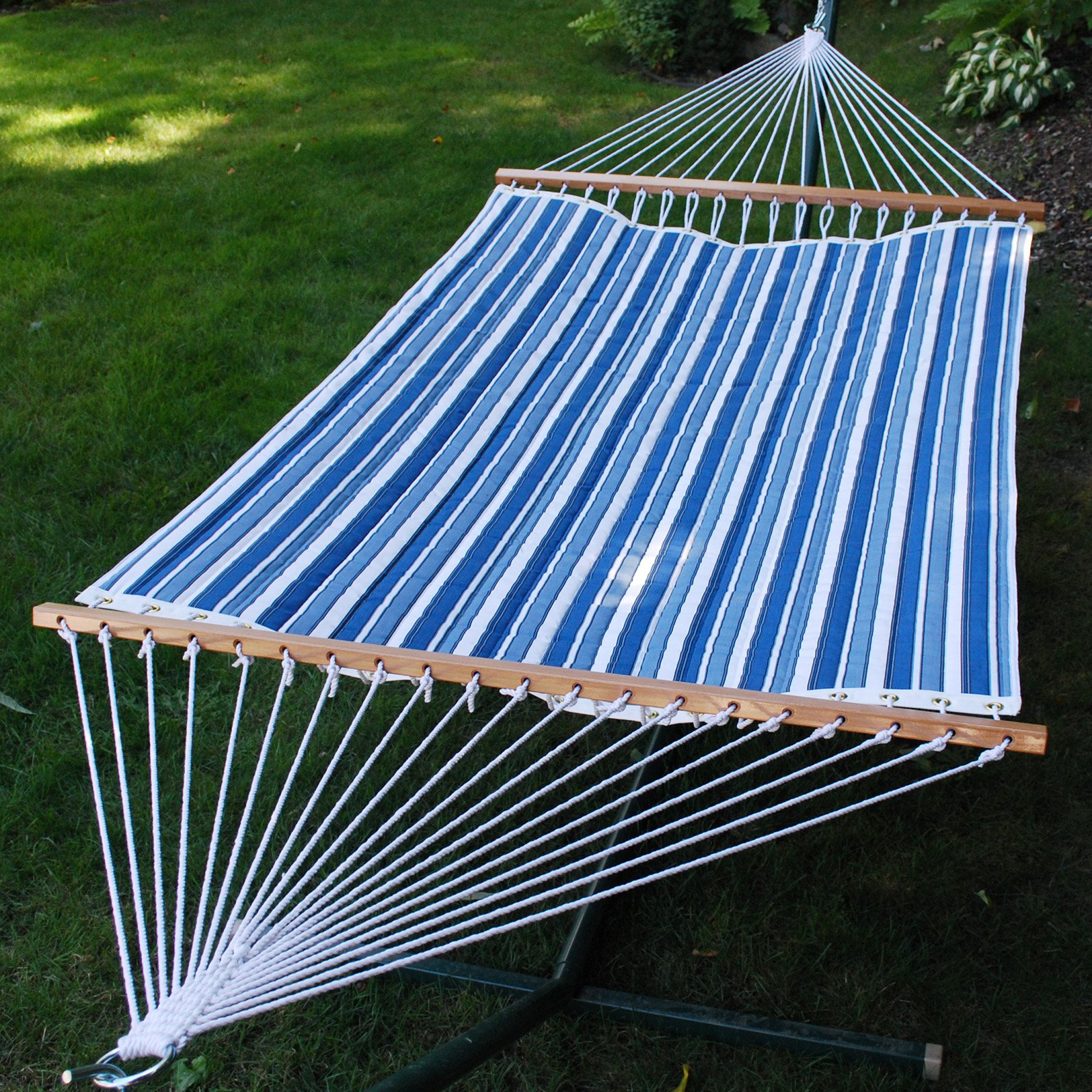 13 ft. Reversible Quilted Fabric Hammock (Esprit Robin/Robin Egg Solid)