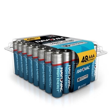 Rayovac High Energy Alkaline, AAA Batteries, 48 Count