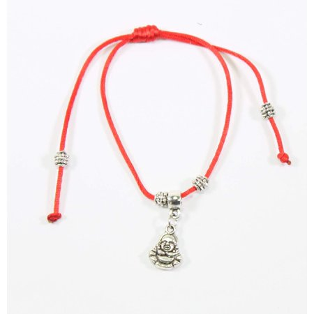 Red and Silver Adjustable Maitreya Buddhas Bracelet Protection Blessing - Blessing Bracelet