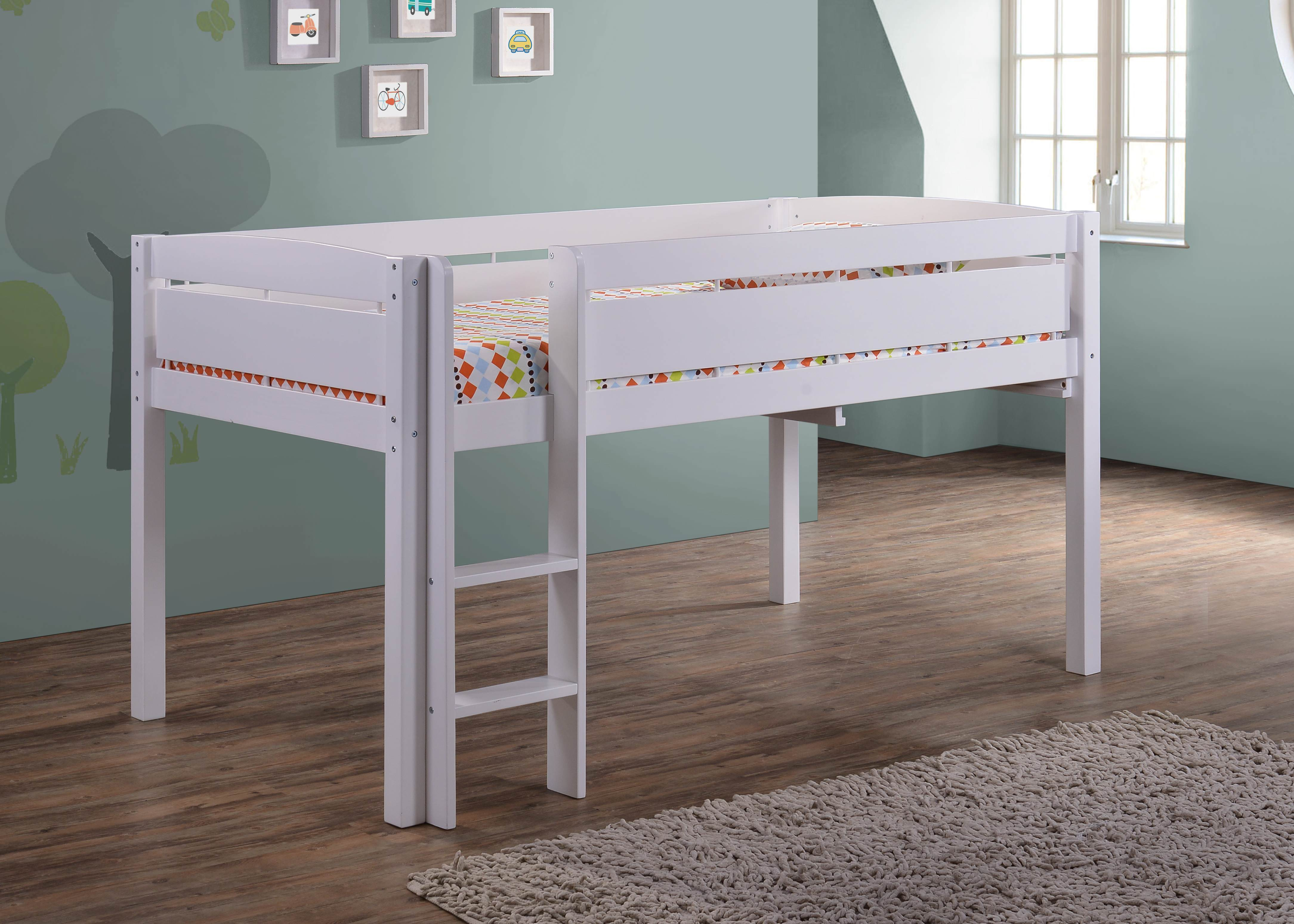 Picture of: Canwood Whistler Junior Loft Bed Twin Size Wood White Walmart Com Walmart Com