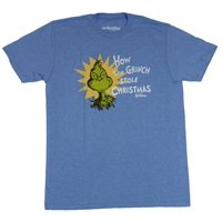 How the Grinch Stole Christmas Mens T-Shirt - Grinch Head & Title Image