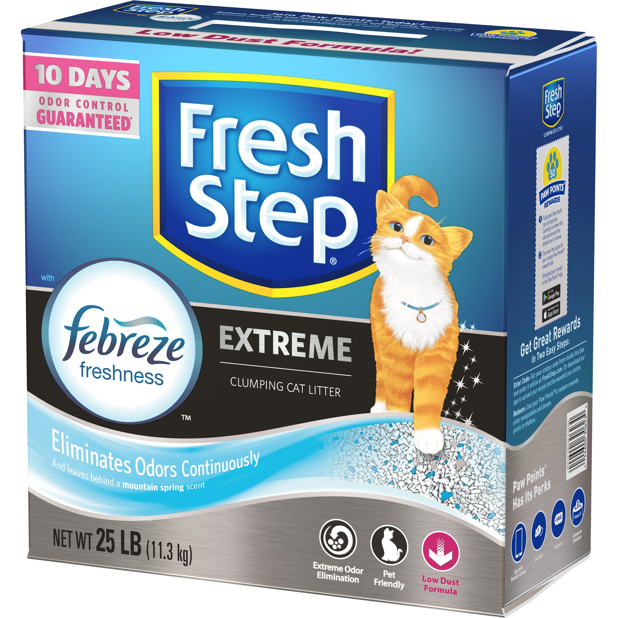 Fresh Step Extreme with Febreze Freshness, Clumping Cat Litter, Scented, 25-lb