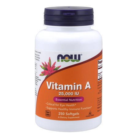 NOW Supplements, Vitamin A (Fish Liver Oil) 25,000 IU, 250 -