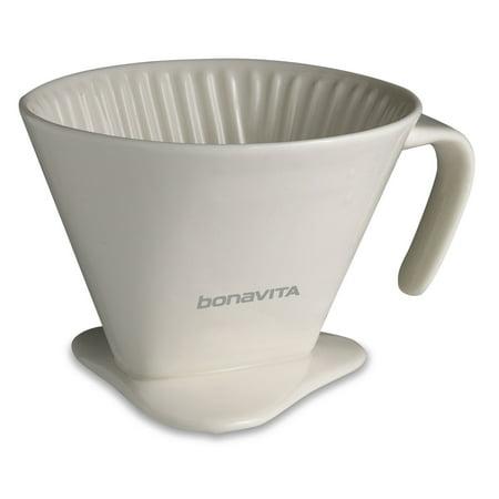 Bonavita V-Style #4 Dripper For Single Cup Brewing, 1.0 (Pourover Single)