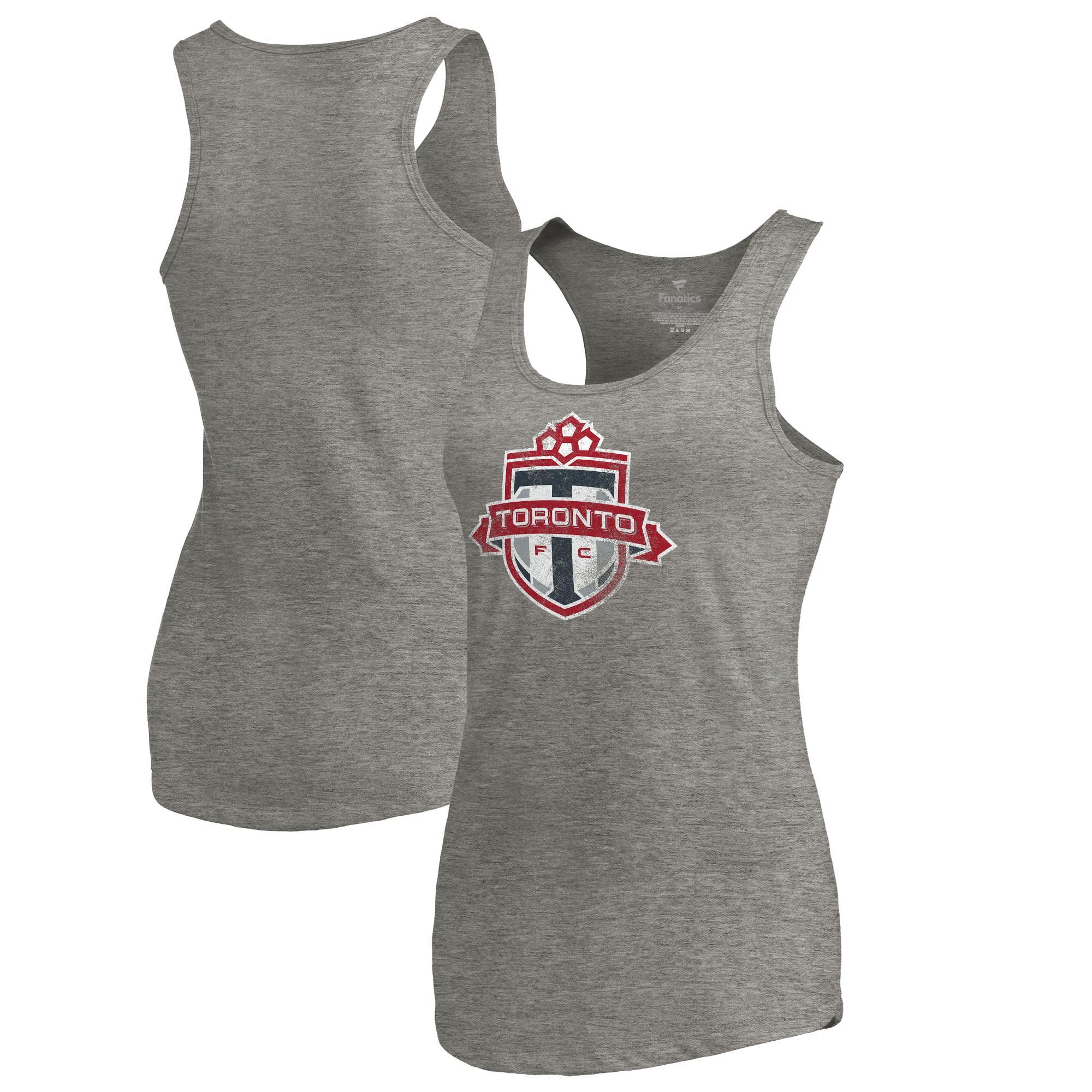 Toronto FC Fanatics Branded Women's Distressed Primary Logo Tri-Blend Tank Top - Heathered Gray