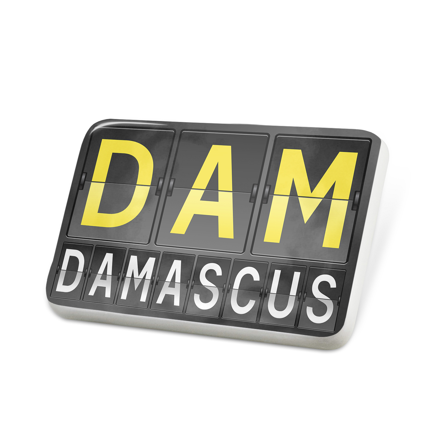 Porcelein Pin DAM Airport Code for Damascus Lapel Badge – NEONBLOND