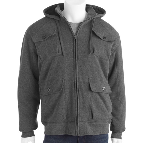 Men's Aviation Style with Sherpa Lining and Hoodie