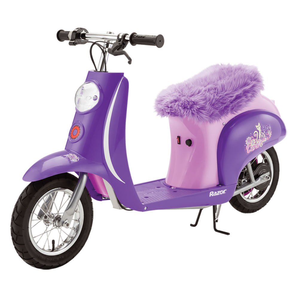 Razor Euro Style Vintage Inspired Seated Electric Scooter Pocket Mod, Purple by Razor