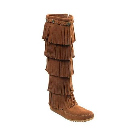 Women's Minnetonka 5 Layer Fringe Boot ()