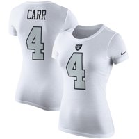 Derek Carr Oakland Raiders Nike Women's Player Pride Color Rush Name & Number T-Shirt - White