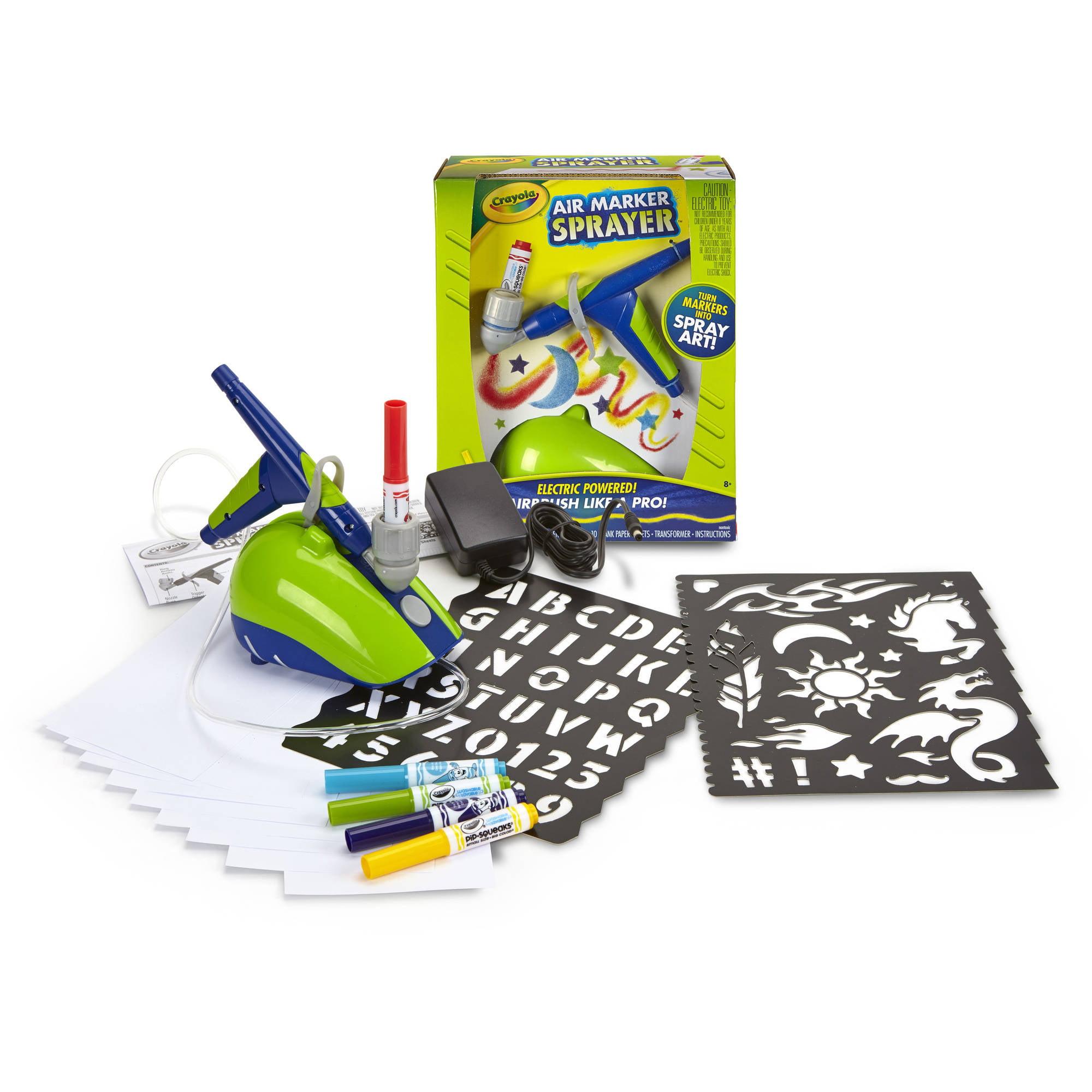 Crayola Air Marker Sprayer Set, 18 Pieces