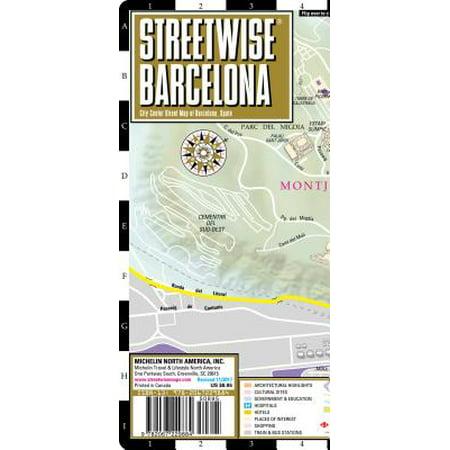 Streetwise barcelona map - laminated city center street map of barcelona, spain: 9782067229884 (Maps Of Spain)