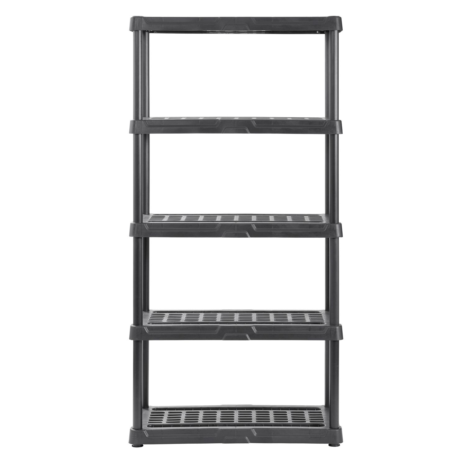 "Muscle Rack 36""W x 18""D x 72""H Five-Shelf Resin Shelving, Black"