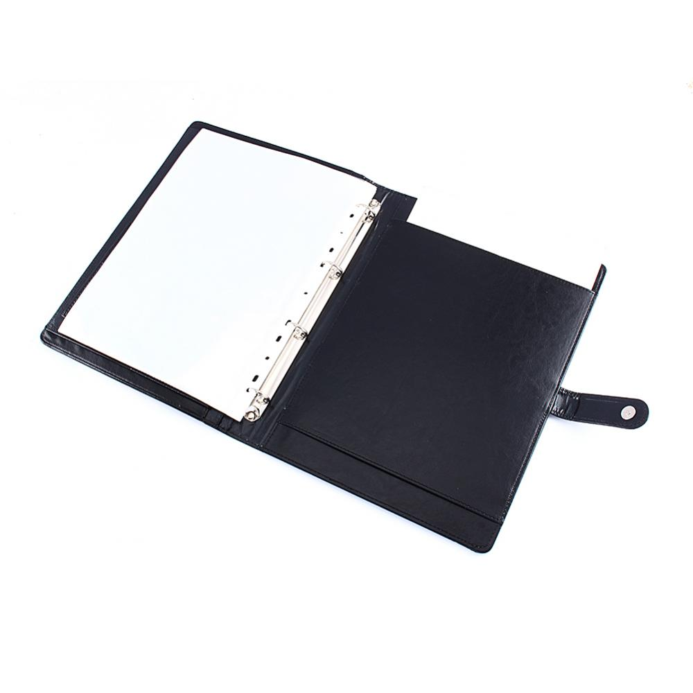 Yosoo Calculator,A4 Conference Folder Portfolio Ring Binder Organiser Calculator Leather US Stock - image 3 of 9