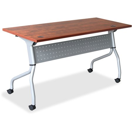 Lorell, LLR60721, Cherry Flip Top Training Table, 1 Each