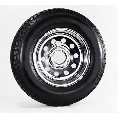 Heavy Duty Trailer Tire Rim ST205/75D15 205/75-15 15 5Lug LRD Wheel Chrome