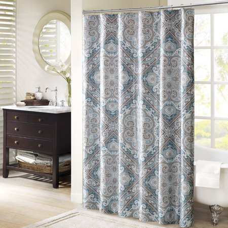 Josephine Shower Curtain Blue 72X72    For A Traditional Update To Your Space  The Josephine Collection Combines An Intricate Paisley Design Inside    By Madison Park