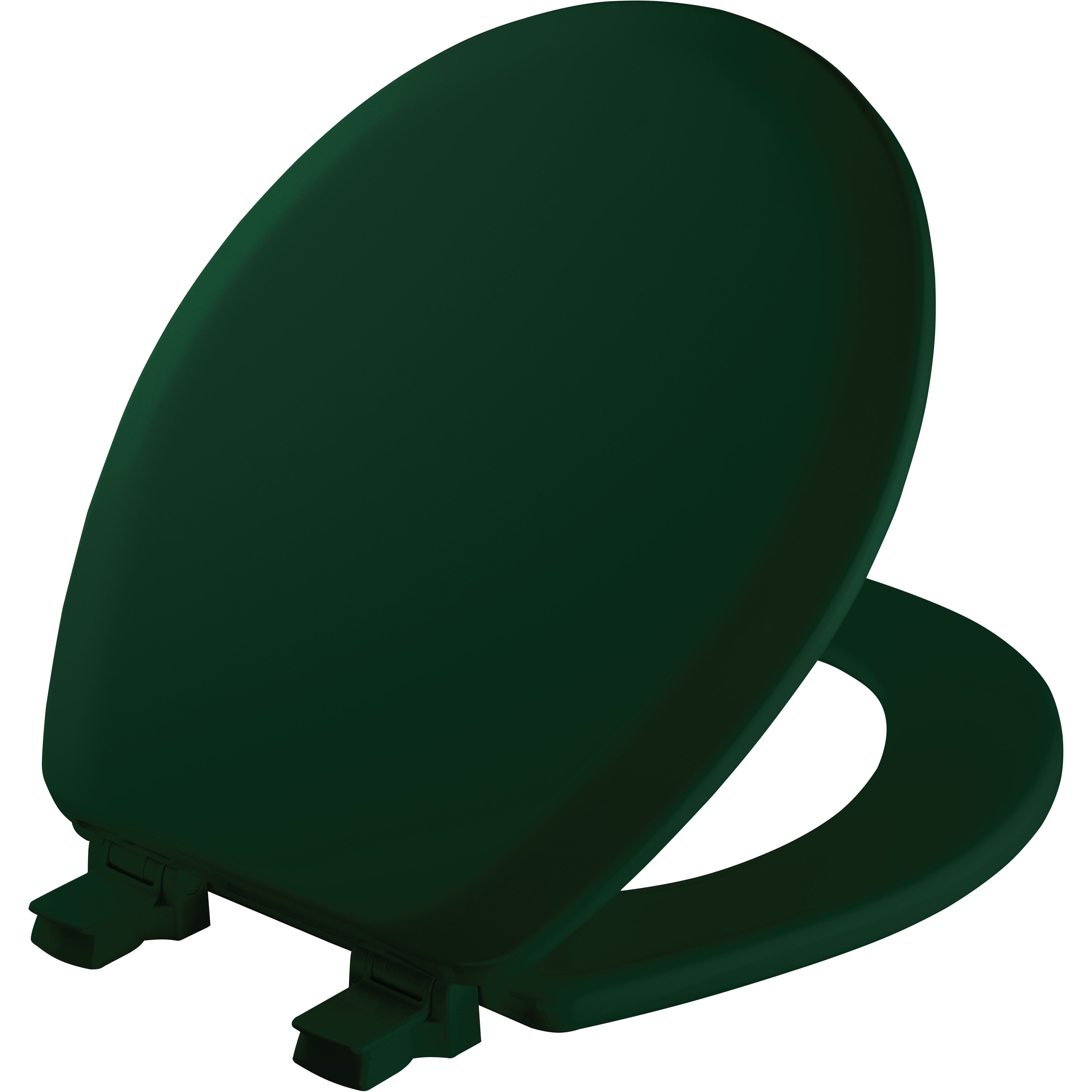 Mayfair Easy•Clean Round Enameled Wood Toilet Seat in Rain Forest with STA-TITE