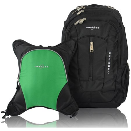 obersee bern diaper bag backpack and cooler black green. Black Bedroom Furniture Sets. Home Design Ideas