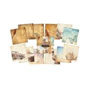 "IndigoBlu Paper Stack 190gsm Cardstock 6""X6"" 24/Pkg-Vintage Memories"
