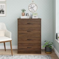 Mainstays Classic 4 Drawer Dresser, Multiple Colors