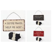 Attraction Design Home 3 Piece Metal Sign with Piggy Wall D cor Set