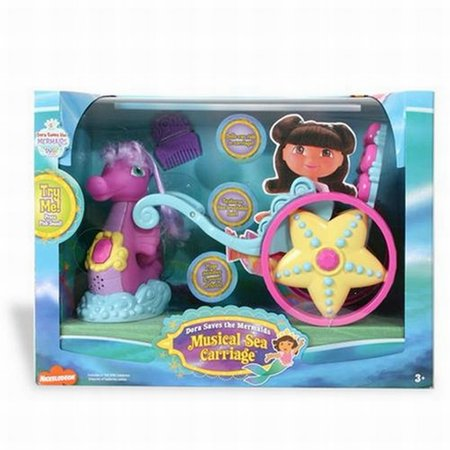 Fisher Price Dora The Explorer Musical Sea Carriage Seahorse Playset