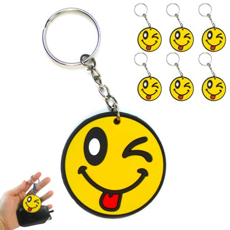 6X Smiley Face Keychain Cute Emoji Pendant Key Ring Gift Fun Phone Accessory Toy