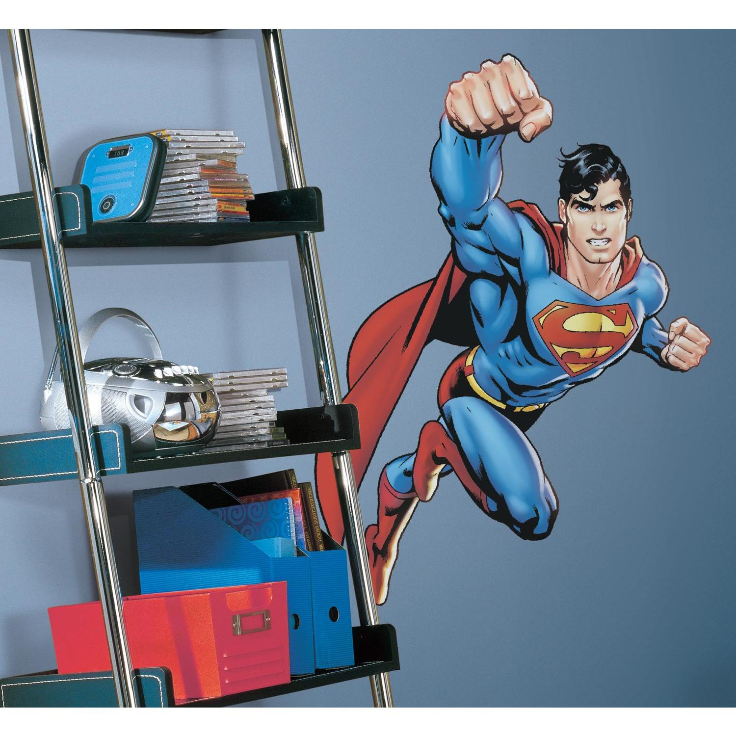 Superman: Day Of Doom Giant Wall Decals Mural DC Comics Large Super Hero Decor