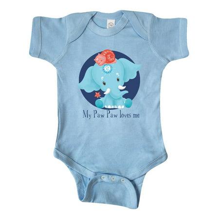 Paw Paw Loves Me Ervin Blue Elephant Sweet Infant Creeper](Paw Me)