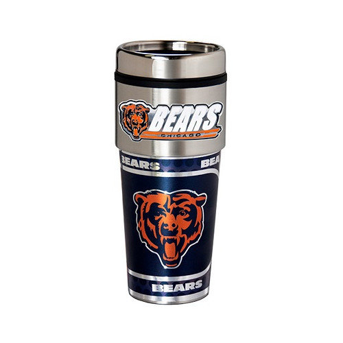 NFL 16 Oz. Metallic Graphics Travel Tumbler, Tampa Bay Buccaneers