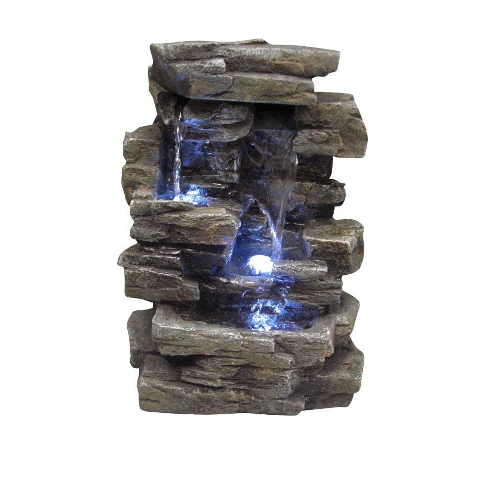 Rock Waterfall Indoor/Outdoor Tabletop Fountain